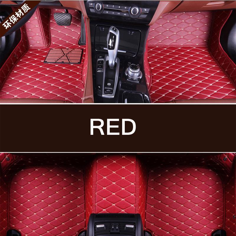 Alfombrilla de pies para suelo de coche personalizada para Dodge Dart 2015-2018 viper 2003-2008 duranza 2009-2017 viaje 7 asiento 2009-2017 alfombra impermeable