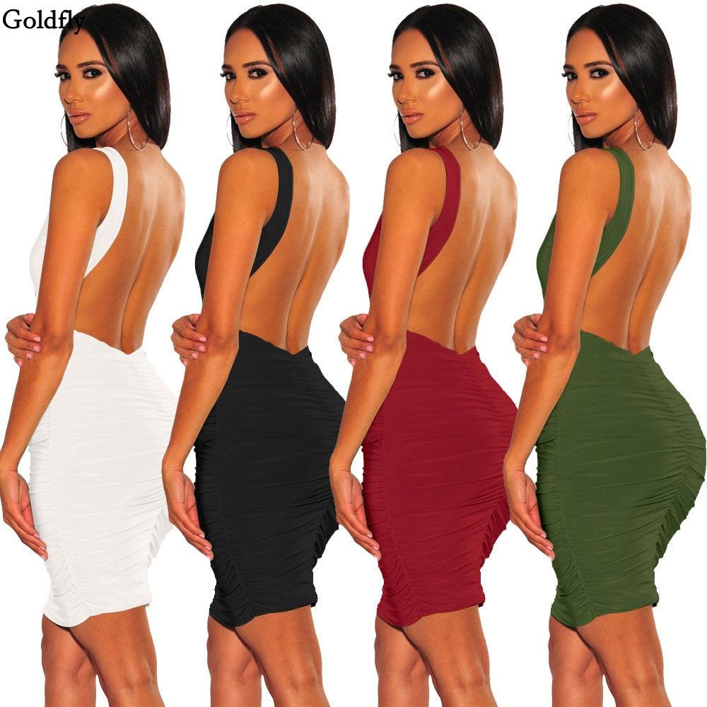 Women's Sleeveless T-Shirt Halter Dress Slim Sexy Nightclub Halter Frilled Fashion Dress frilled sleeve brush stroke grid tiered dress