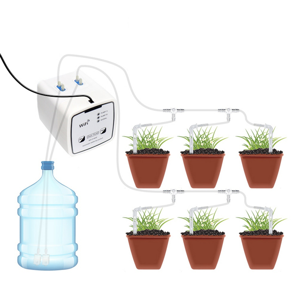 WIFI Remote Control Intelligent Watering Device Automatic Drip watering Home Orchard garden double p