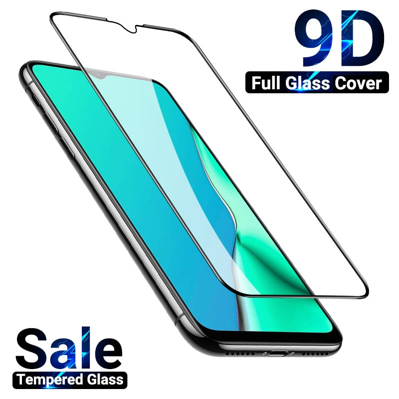 9D полное закаленное стекло для OPPO A5S защита экрана на OPPO A1k A11 A12e A15 A33 A52 A53s A32 A54 A57 A59 Защитная стеклянная пленка