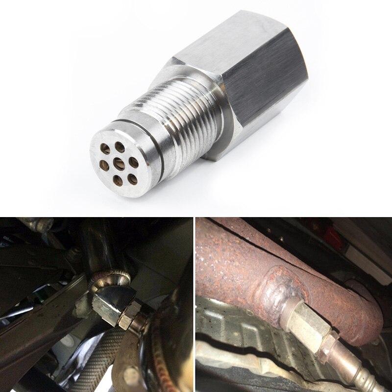 Limpiador convertidor catalítico de coche M18 * 1,5 O2 Sensor comprobar la luz del motor Cel eliminador adaptador espaciador Micro convertidor catalítico