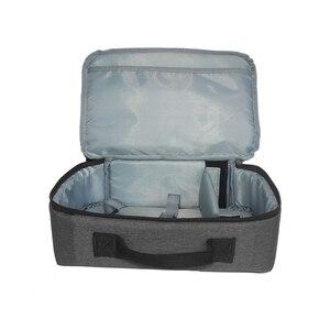 Image 4 - Портативный серый чехол для проектора универсальная сумка для переноски органайзер для путешествий для проекторов и аксессуаров