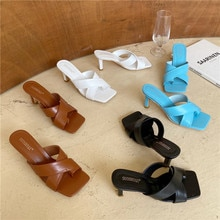 Rubber Flip Flops Slippers Casual Summer Women's Shoes Slides Low Thin Heels Pantofle Heeled Mules Hawaiian Luxury Soft 2020