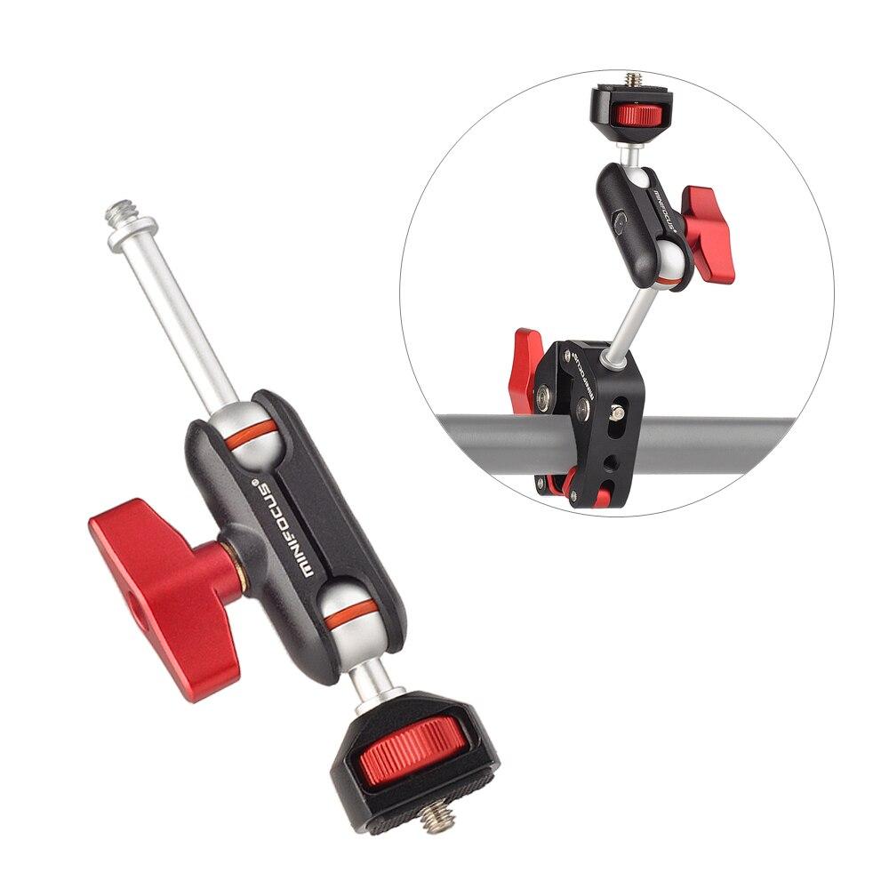 Adaptador de Montagem de Braço Parafuso para Câmera Monitor de Luz Luzes de Flash Ballhead com 1 Novo Mágico Mini Multi-função Dupla – 4 Led Gaiola