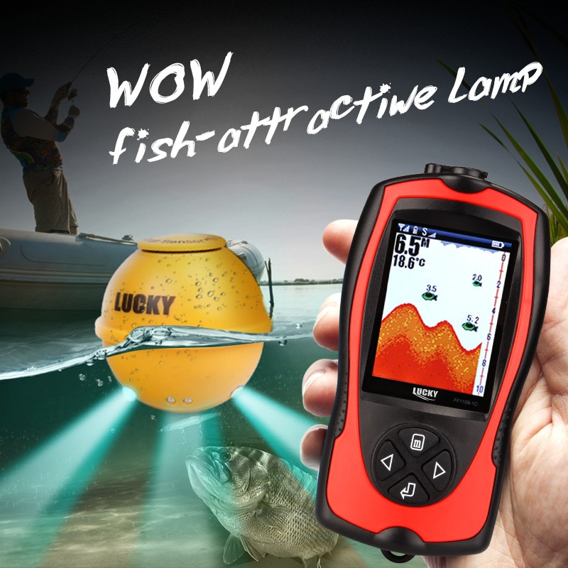 LUCKY FF1108-1CWLA Rechargeable Wireless Sonar For Fishing 45M Water Depth Echo Sounder Fishing Finder Portable Fish Finder enlarge