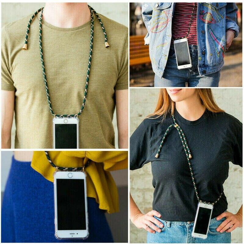 Funda para teléfono con correa cruzada para Samsung Galaxy J530 J330 J320 J730 J520 J720 J5 J7 J2 primer collar hombro cuello caso