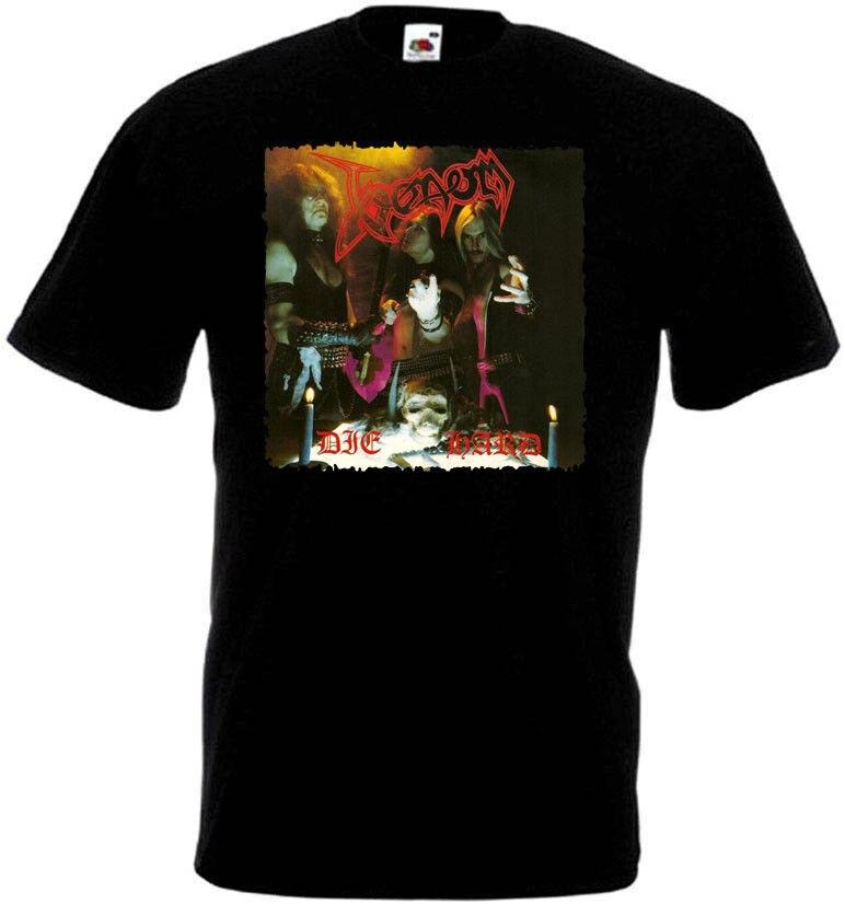 Venom Die Hard T-shirt negro Metal basura todas las tallas S-3XL Streetwear impresión divertida Ropa Hip-Tope Mans camiseta Tops camisetas