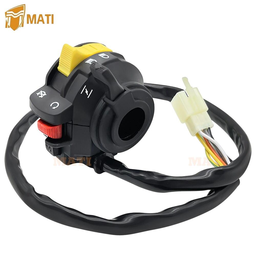 Left Handlebar Switch Start Stop Headlight for Suzuki QuadRunner 250 LT-F250 1988-1989 37400-19B05 37400-19B03 enlarge
