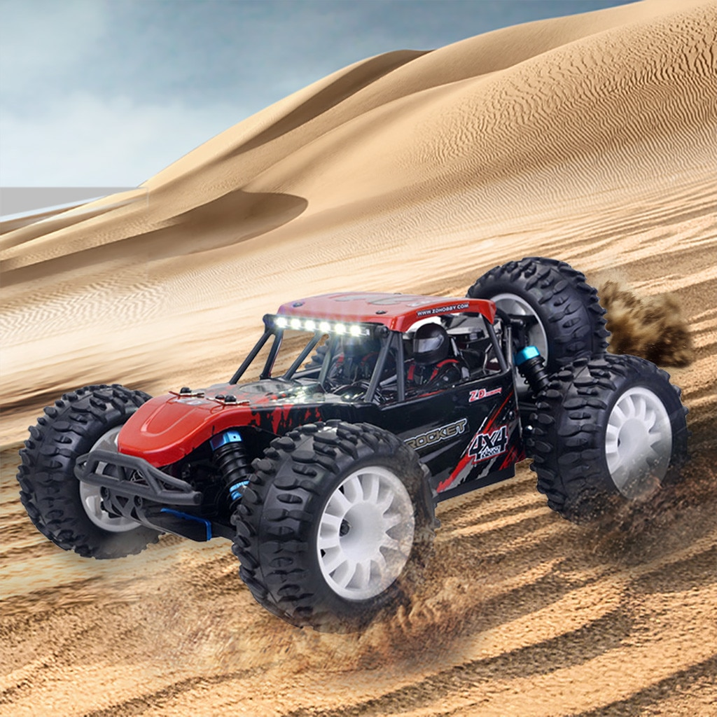 Wltoys, coche a control remoto de alta velocidad, zd-racing DTK16 1/16 2,4G 4WD 30 KM/h, coche a control remoto Brushled para desierto, coche a control remoto para niños