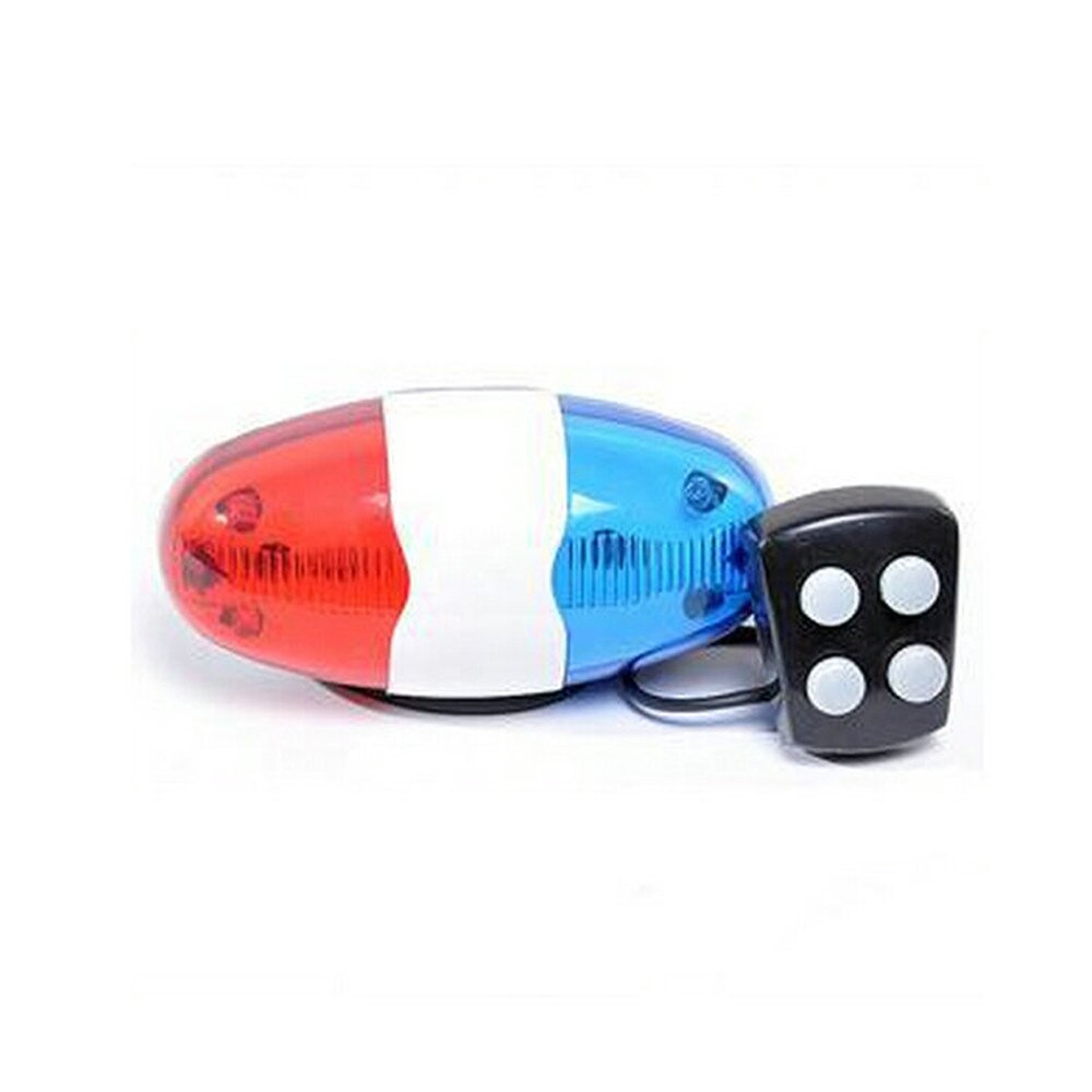 6 LED 4 Sounds Horn Bell Ring Police Car Light Trumpet For Bike Bicycle Bike Accessories Велосипедный рог#20