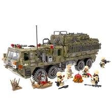 Xingbao 정품 06014 자동 잠금 벽돌 ло 군사 빌딩 블록 전갈 자리 무거운 트럭 특수 부대 군인 교육 장난감