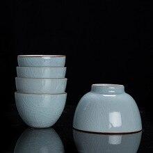 Grand Ru four maître tasse pièce ouverte peut soulever Kung Fu tasse à thé en céramique individuelle tasse à thé Ru porcelaine service à thé tasse unique tasse à thé