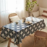 table cloth rectangular linen tablecloth home decorations for parties weddings and events household items mantel de navidad