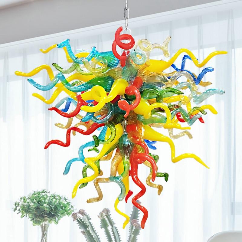 Подвесная лампа на заказ, современный подвесной светильник, домашние украшения, освещение для гостиной, стильные люстры из муранского стек...