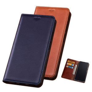 Crazy Horse Genuine Leather Wallet Phone Case Card Slot Holder Holster For Samsung Galaxy A8 Plus 2018/Galaxy A8 2018 Flip Cover