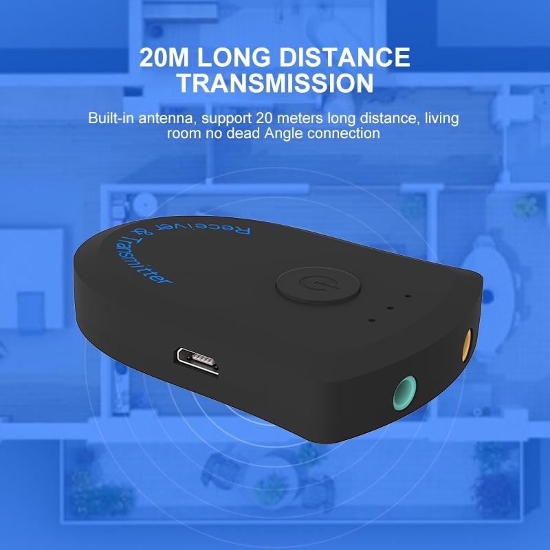 Receptor Bluetooth transmisor de Audio inalámbrico de 3,5mm divisor de sonido HIFI adaptador de música multipunto para teléfonos inteligentes Android IOS