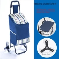grocery cart with wheels reusable portable collapsible trolley bags hand pulling utility collapsible grocery bag with hand strap
