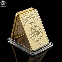 replica gold bar 1 oz 9999 eagles block uae national emblem rose pattern collection gifts