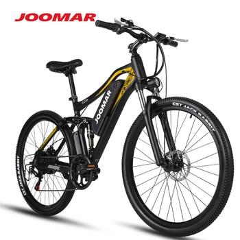 JOOMAR Electric Bike JM60 Plus Mountain Bicycle Beach Snow MTB 17AH 500W48V Motor 27.5Inch Ebike Outdoor Cycling for Men Bicycle