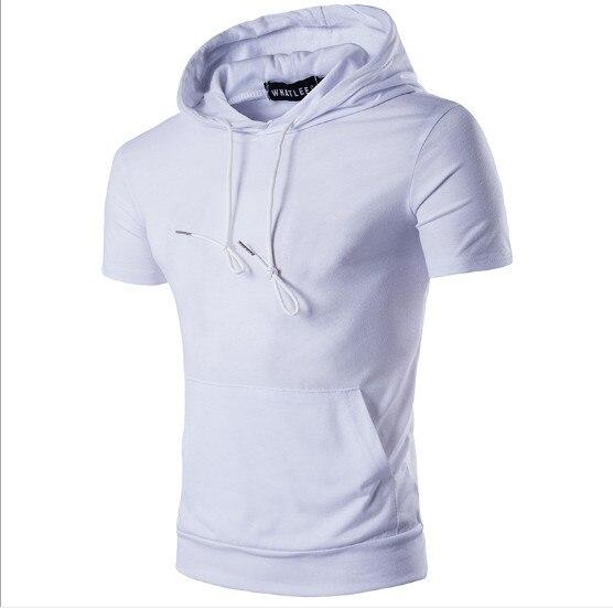 ZOGAA 2020 sudaderas con capucha de Hip Hop, ropa para hombre, sudaderas de verano de manga corta, gran bolsillo, sudadera para hombre, sólida, delgada, cadera de calle
