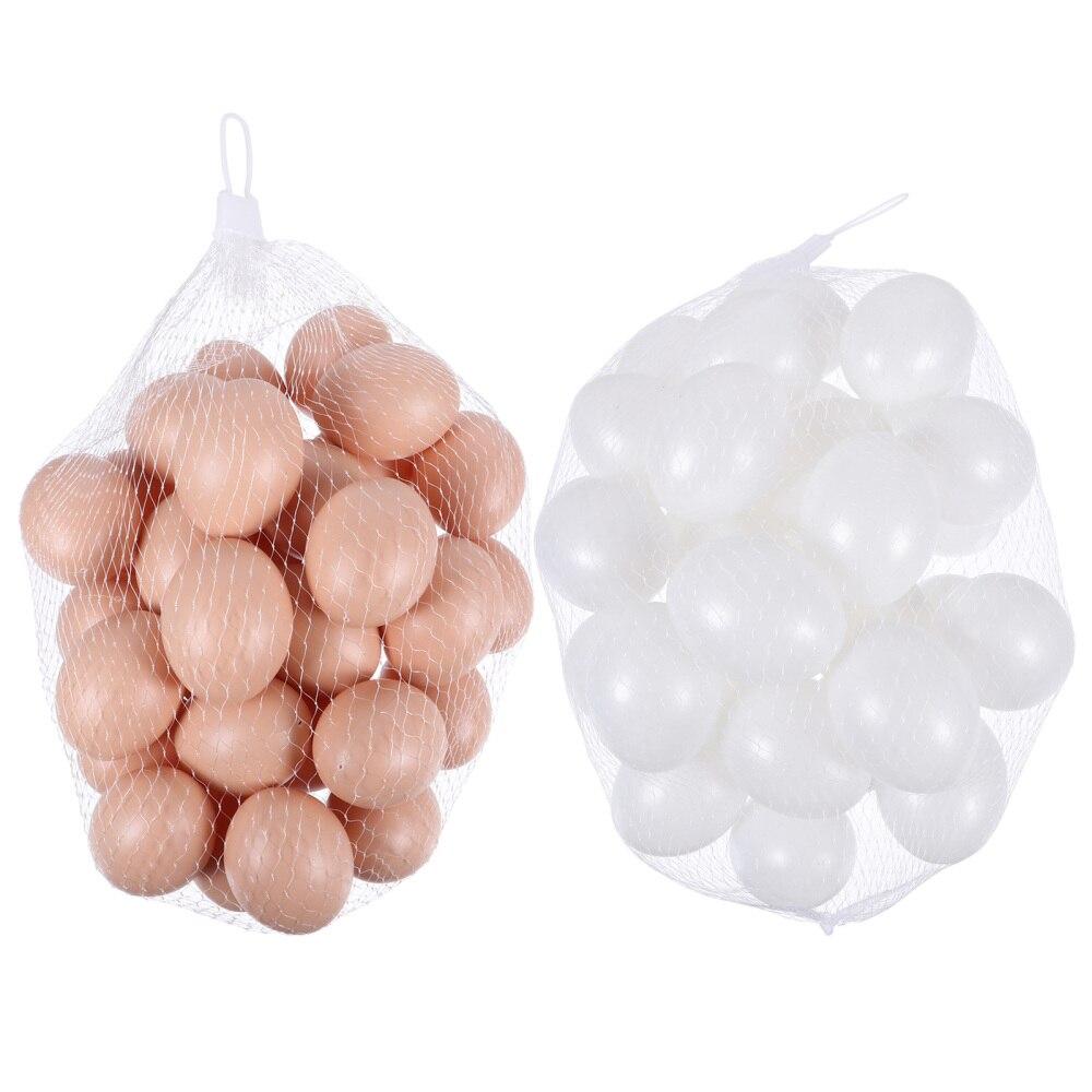60 pièces 2 sacs modèles doeufs uniques oeufs artificiels adorables oeufs décoratifs