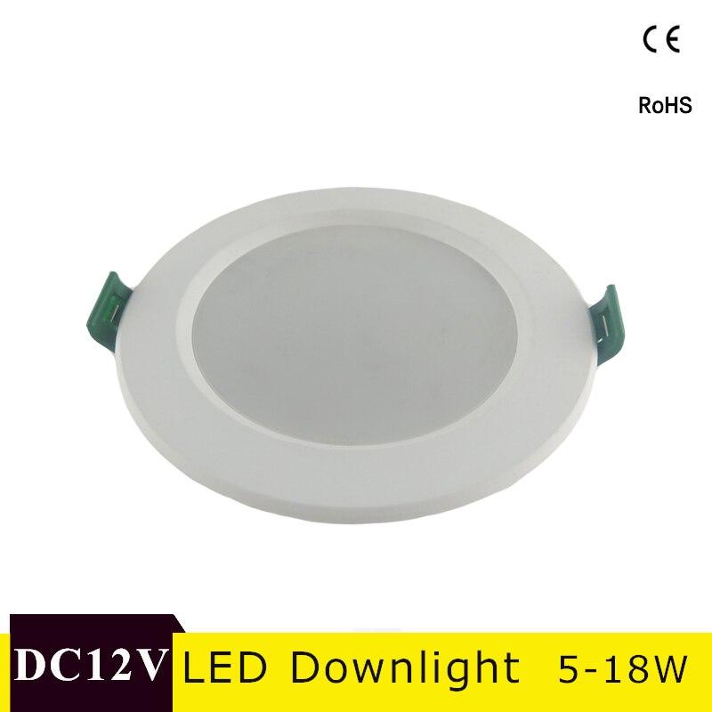 DC 12V Led Downlight 18W 15W 12W 9W 5W LED Ceiling Lamp Cold White Round LED Panel Light LED Spot light Indoor Lighting