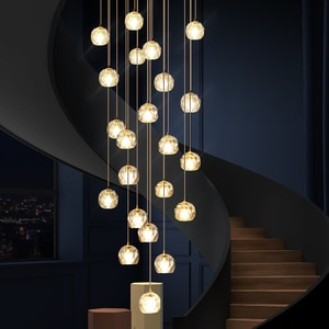 LED Chandeliers Lights Loft Coffee Bedroom Lighting lustres e Chandeliers para sala de jantar Modern Glass Pendant Lamps