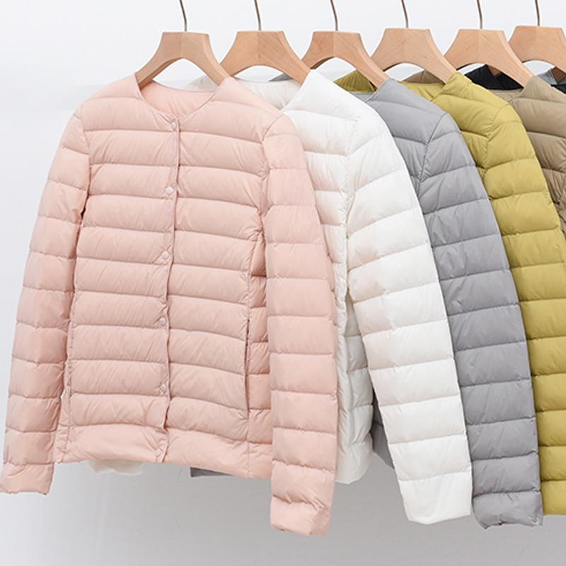 Светильник кие стеганые куртки женские куртки весна 2021 ульсветильник кое Стеганое пальто без воротника для женщин теплые зимние легкие пух...