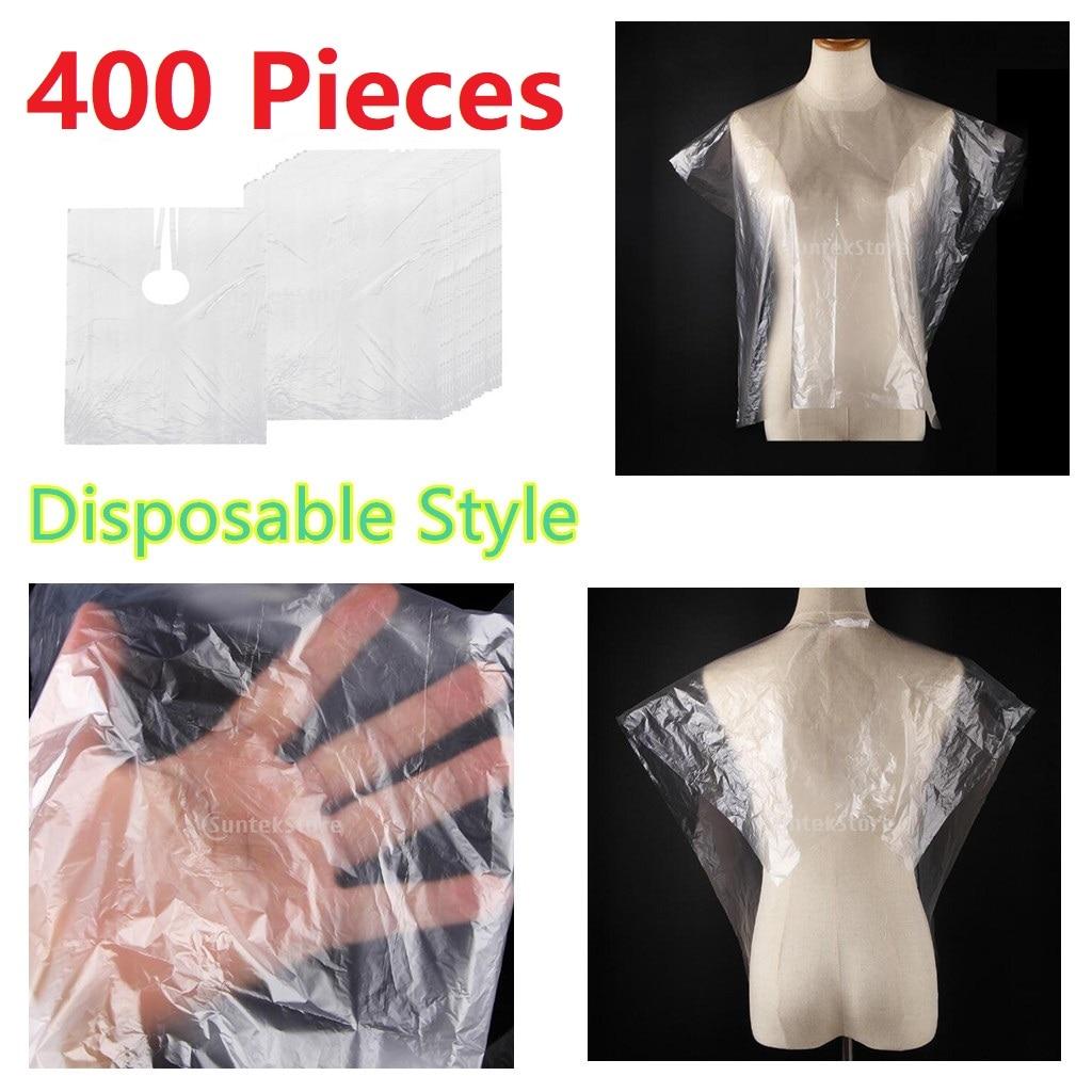 مريلة من القماش للاستعمال مرة واحدة للحلاقة ، مريلة مقاومة للماء لقص الشعر ، مريلة قماشية ، رفيعة للغاية ، 400x