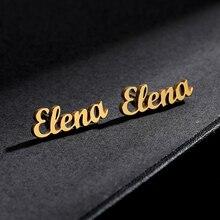 Custom Name Earrings Aretes de Mujer Oorbellen Personalized Jewelry Stainless Steel Stud Earrings Earrings