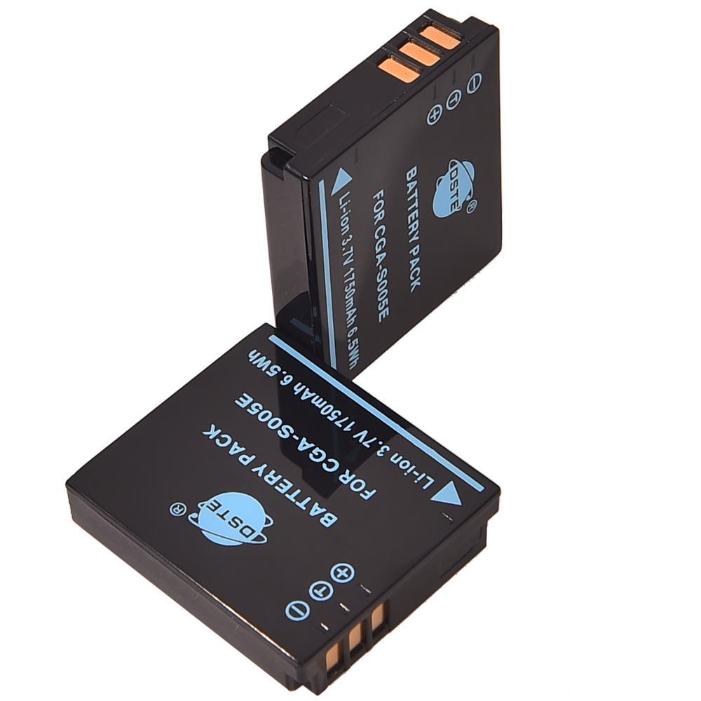 DSTE 2 uds CGA-S005E batería para Panasonic DMC-FS1 FXO1-A FXO1-BB IA-BH125C BP-41 D-Li106 DB-65