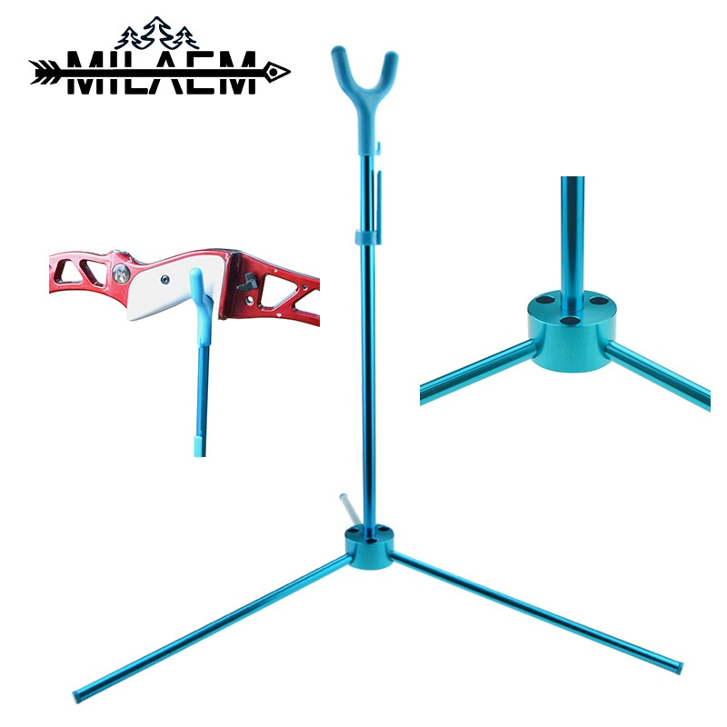 Archery Foldable Recurve Bow Stand Aluminum Alloy ABS Assemble Bow Holder for Recurve Bow Outdoor Shooting Hunting Accessories