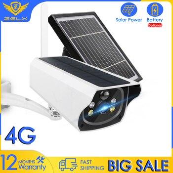 4G SIM Card Solar IP Camera WIFI Battery Powered Video Surveillance Camera Color Night Vision 1080P CCTV Home Security Camera