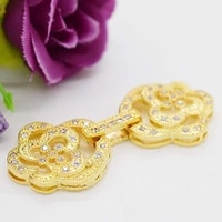 2pcslot womens high quality luxury micro hotstone rose double ring pearl buckle necklace buckle bracelet buckle
