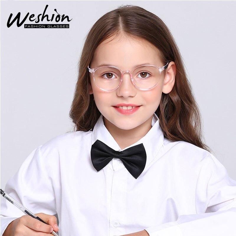 Youth Boy Girls Anti Blue Light Glasses Kids Teens TR90 Frame Reflective Optical Junior High School Computer Eyeglasses 8 to18