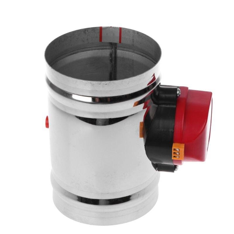 220V 125Mm válvula solenoide de acero inoxidable válvula de aire de acero inoxidable válvula de Control de volumen de aire válvula de aire eléctrica de acero inoxidable