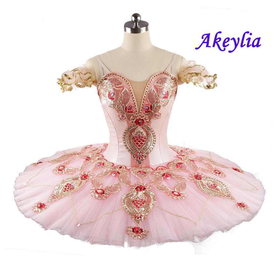 Sleeping beauty princess Aurora Ballet Tutu Professional pink peach Girl competition Women Pancake tutu Ballet classical Dress недорого
