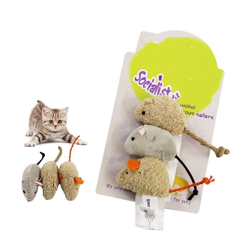 Новинка, 3 шт./лот, микс для домашних животных, кошачья мышка, игрушки для кошек, забавная плюшевая мышь, игрушка для кошек, для домашних животных, маленькая Толстая мышка, игрушки для кошек