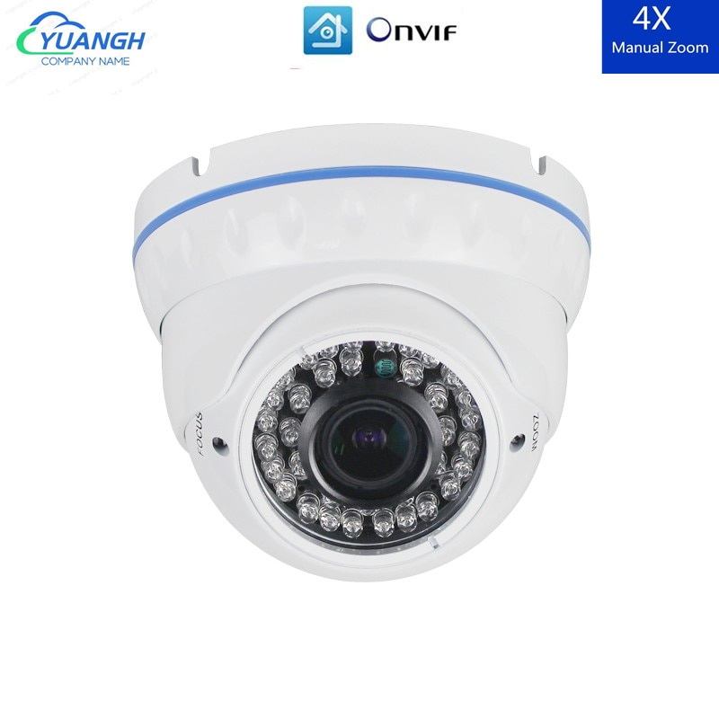 H.265 Security IP Camera POE ONVIF XMEye APP 2.8-12mm Manual Zoom Lens IR Night Vision Vandalproof Indoor Dome CCTV Camera ssicon 2 0mp dome ip camera 2 8 12mm varifocal lens manual zoom onvif 1080p home security camera poe night vision