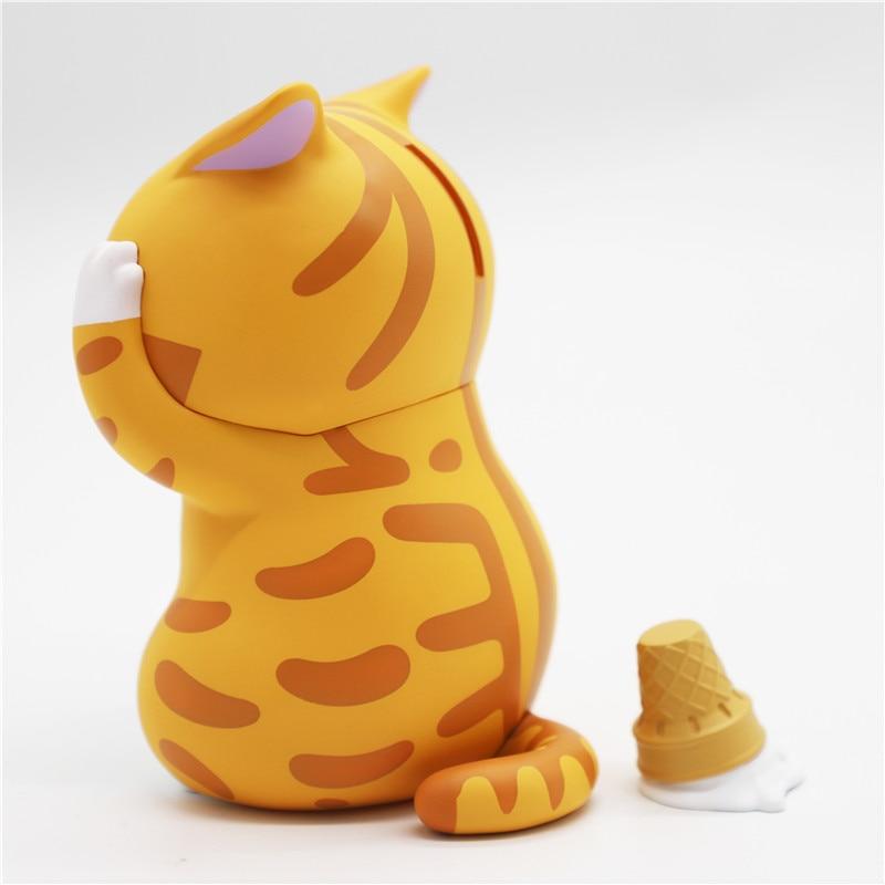 LAMTOYS distressed kitten limited edition orange cat version penguin version piggy bank popular toy decoration gift