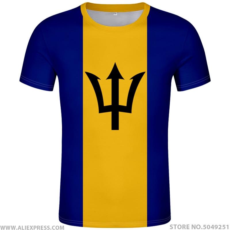 BARBADOS T camisa foto gris Flexible Brb país Diy camiseta universitaria Bb...