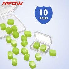 Mpow HP109 10 paires de bouchons doreille   Bouchons doreille étanches en Silicone souple, 28dB, SNR, réduction du bruit, pour bain douche, ronflement, travail