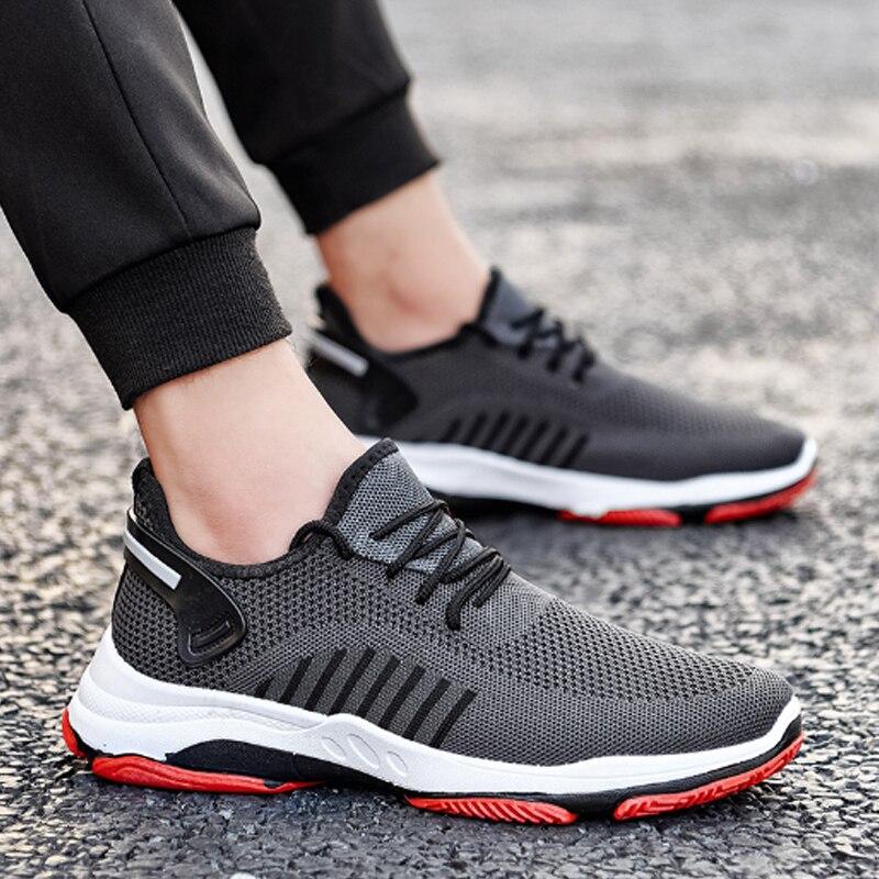 Jodimitty nova primavera sapatos masculinos sapatos casuais conforto tênis desgastar-oposição não-deslizamento masculino malha tenis masculino mais tamanho