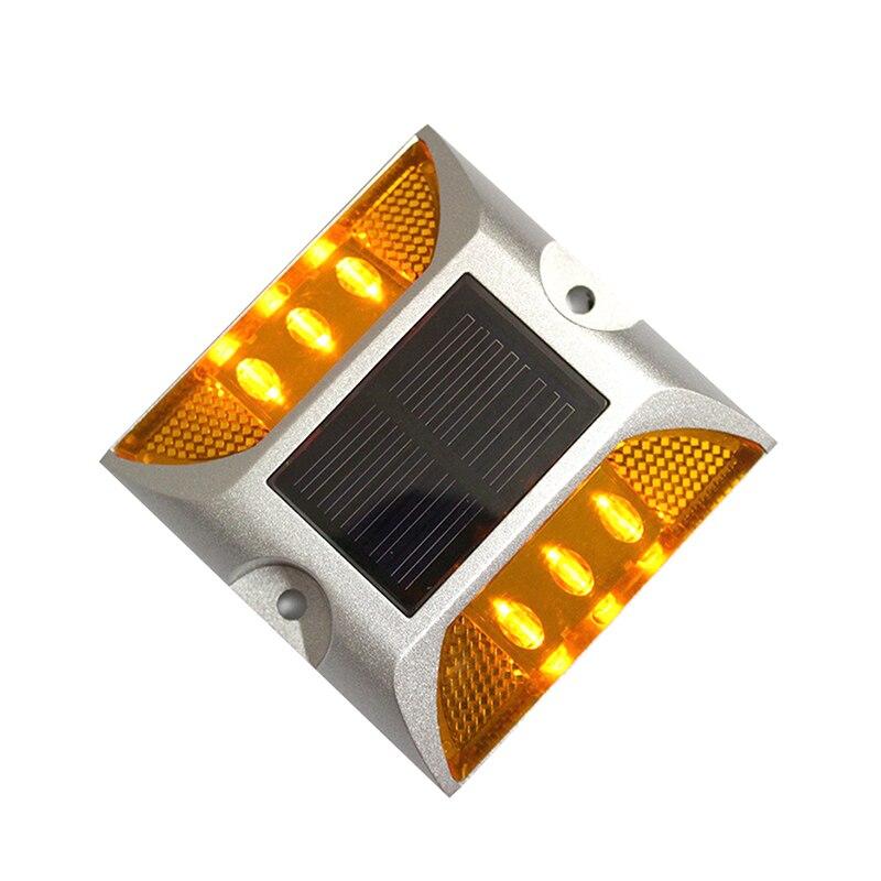 IP68, resistente al agua, energía Solar, luz LED para carretera, luz reflectante de aluminio para carretera, luz de advertencia para tierra