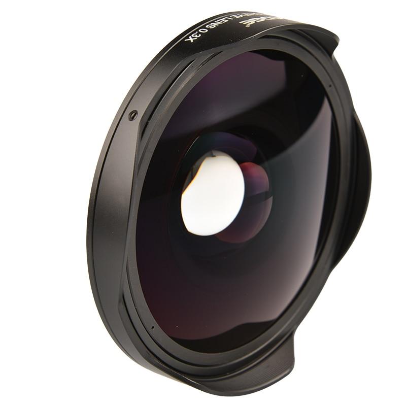 VLOGMAGIC 37 مللي متر/43 مللي متر 0.3X الترا فيش واسعة محول العدسة مع هود فقط ل كاميرات فيديو كاميرات الفيديو