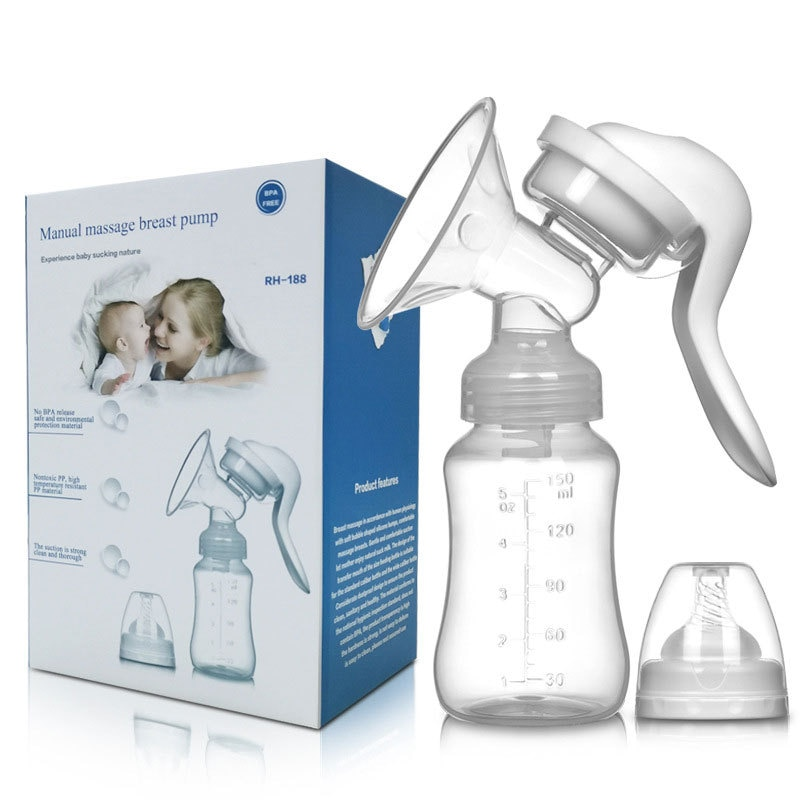 Manual Breast Pump Silicone Milking Device For Maternity Products Pull Milk To Promote Lactation  Breast Pump
