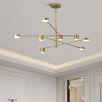 Modern LED Chandelier Lighting For Living Room Bedroom Kitchen Chandeliers Ceiling Black Golden Nordic Lustre Light Fixtures