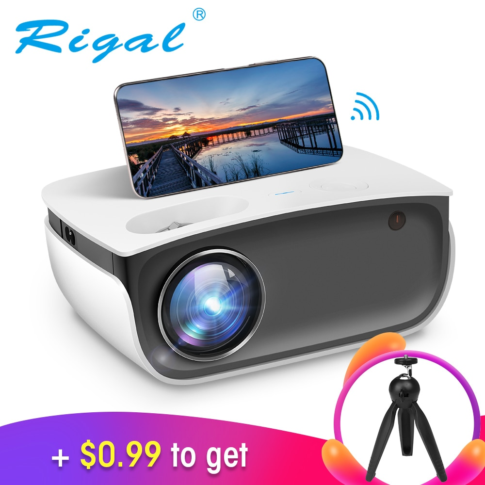 Rigal RD850 Mini Proyector 720P Proyector WiFi Android IOS Smartphone para Video...