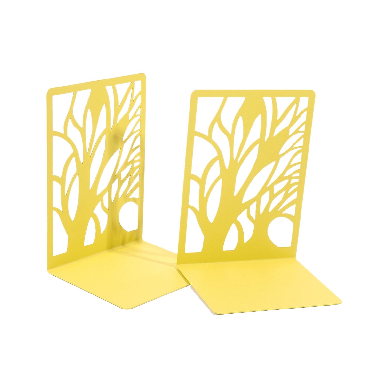2Pcs Iron Bookends L-shaped Book Holder Desktop Organizer Home Storage Shelf School Stationery Office Accessories
