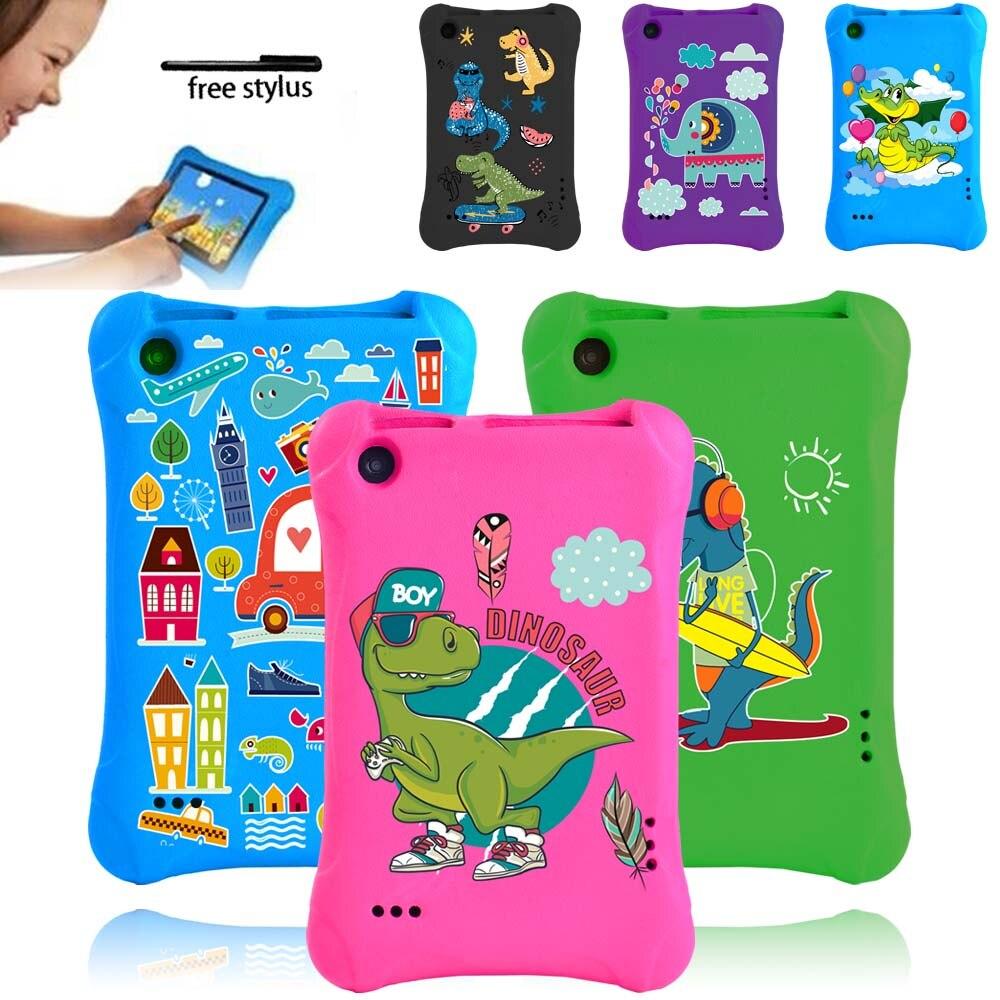 For Amazon Fire 7(5th/7th/9th Gen)Tablet Case -Kids Safe Shockproof Case Foam EVA Foam Multicolor Cartoon Pattern Series 7 Inch
